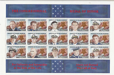 St. Vincent: 1991 Heroes Of Pearl Harbour miniature sheet. Going cheap.