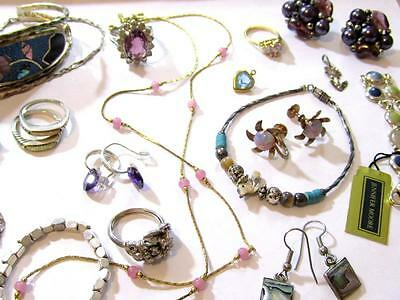 18pc VINTAGE JEWELRY LOT*TRIFARI*ALPACA*STERLING SILVER*JENNIFER MOORE*925*D640