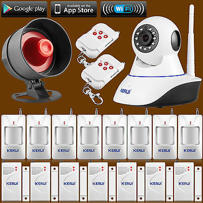 Kit With Wireless Siren 2016 KERUI WiFi Camera Alarm System for Home Security