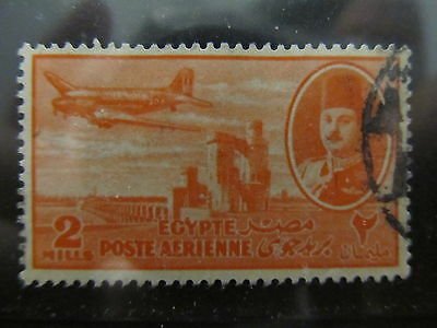 A2P29 EGYPT AIR POST STAMP 1947 2m USED #1