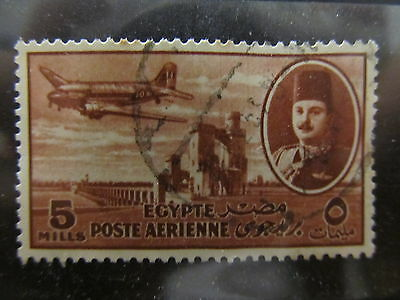 A2P29 EGYPT AIR POST STAMP 1947 5m USED #6