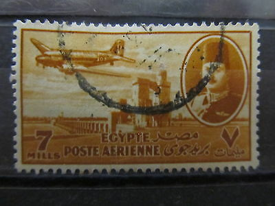 A2P29 EGYPT AIR POST STAMP 1947 7m USED #2
