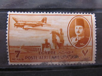 A2P29 EGYPT AIR POST STAMP 1947 7m USED #3