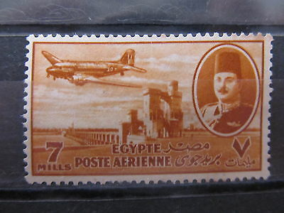A2P29 EGYPT AIR POST STAMP 1947 7m USED #4