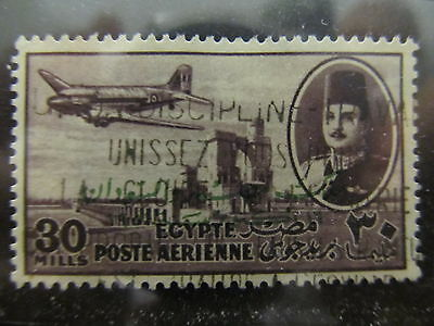 A2P29 EGYPT AIR POST STAMP 1952 OPTD 30m USED #2