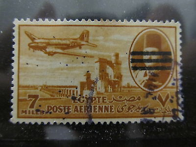 A2P29 EGYPT AIR POST STAMP 1953 OPTD 7m USED #7