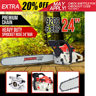 "NEW ArmorBilt 25cc Petrol Chainsaw 10"" Commercial Arborist Bar Tree Pruning Saw"