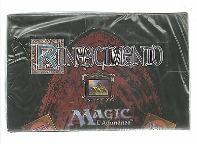 Factory Sealed RINASCIMENTO 60 Booster Box Mtg Magic Italian [RENAISSANCE, FBB]