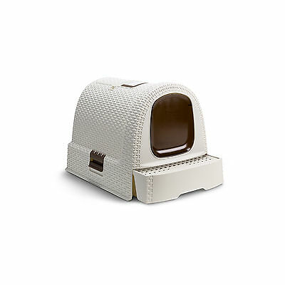 Rattan Pet Litter Box House Cream 198844