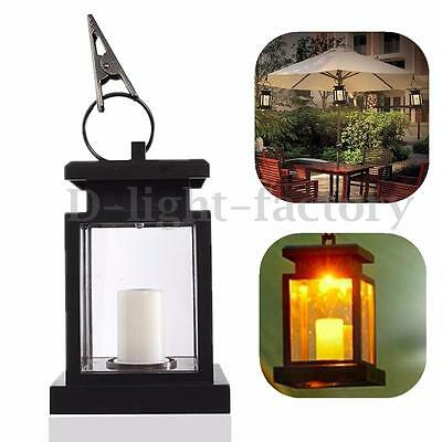 Garden Solar Powered LED Candle Table Lantern Hanging Light Outdoor Hanging Lamp