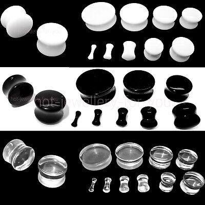 1 x Drum Flesh Tunnel Double Flared Acrylic Ear Plug Defender Stretcher Taper