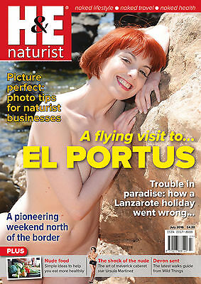 H&E naturist July 2016 magazine nudist health efficiency