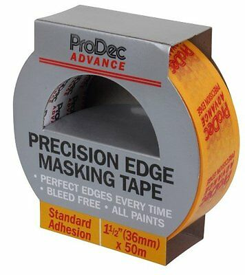 Rodo Atmt002 Prodec Advance Precision Edge Masking Tape 36Mm X 50M 4 Rolls