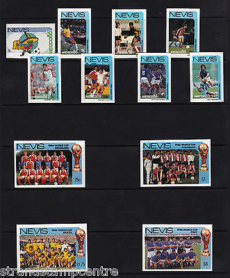 Nevis - 1986 World Cup - U/M - SG 389-400 - IMPERF
