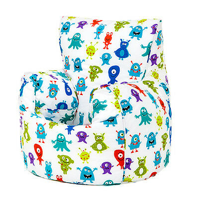 Children's Beanbag Chair Monsters Aliens Kids Bedroom Furniture Bean Bag Seat