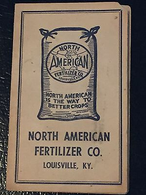 Vintage North American Fertilizer Co Advertising Needle Book - Louisville, KY