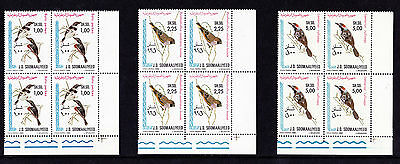 Somalia - 1980 Birds - U/M - SG 658-60 BLOCKS of FOUR