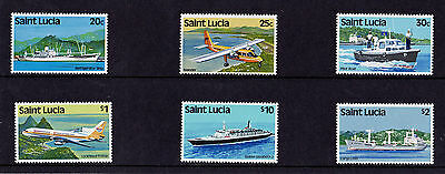 St Lucia - 1984 Transport - U/M - SG 690-98