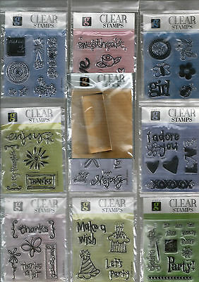 Sentiments,words, Messages & Icons Clear Stamp Set & 2.2 X 6.2 Cm Clear Block