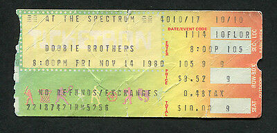 1980 Doobie Brothers Concert Ticket Stub Spectrum Michael McDonald Real Love