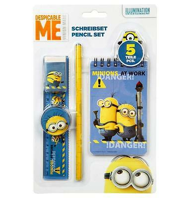 MINIONS - Despicable Me - Schreibset 5-teilig