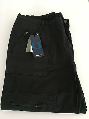 ELENA MIRO' women's trousers black winter with pockets and zip 97% cotone