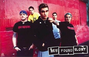 NEW FOUND GLORY POSTER ~ DRIVE THRU RECORDS 22x34 Music Jordan Pundik Gilbert
