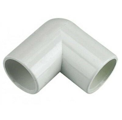 FLOPLAST 21.5mm WHITE OVERFLOW 90º DEGREE BEND ELBOW SOLVENT WASTE WELD SYSTEM