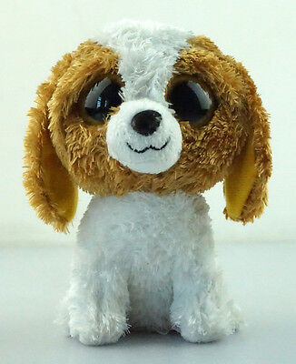 "6"" TY Beanie Boos Cookie Dog Brown Eyes Plush Stuffed Toys Animal Girl Gift"