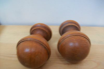 Pair of vintage french wooden finials for furniure decoration  mounts #7