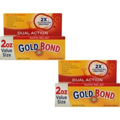 2 Pack - Gold Bond Maximum Strength Medicated Anti-Itch Cream 2 oz Each