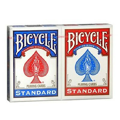 2 Deck Bicycle Rider Back 808 Poker Standard Playing Cards Red & Blue New 2 Pack