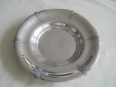 "LOVELY INTERNATIONAL STERLING SILVER SIDEBOARD DISH 11.75"" 481g"