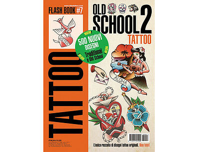 OLD SCHOOL 2 Tattoo Flash Design Book 64-Pages Traditional Sketch Art Ink Supply