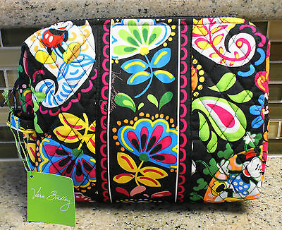 NWT VERA BRADLEY Disney Large Cosmetic Bag in MIDNIGHT WITH MICKEY
