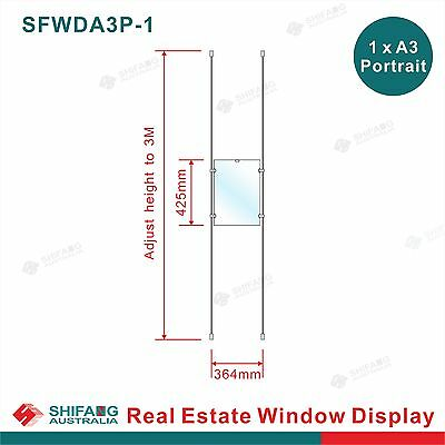 Real Estate Window Display 1x1 A3P, Acrylic Cable Hanging Display,Window Signage