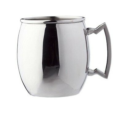 Steelii Stainless Steel Moscow Mule Mug with Stainless Steel Handle, 16 Oz.