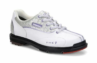 Dexter THE 9 Womens Performance Bowling Shoes White Silver Croc Wide Width