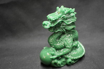 Dragon Statue in jade colour finish 88mm. Symbol of Strength (AN003J)