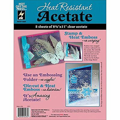 Hot Off The Press Heat Resistant Acetate, 8.5 by 11-Inch, 5-Pack HTP4234 AOI