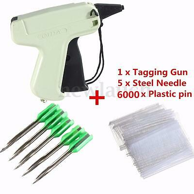 Hot! 6000 Tag Barbs + Tagging Tag Gun + 5 Needles Garment Price Label Clothes