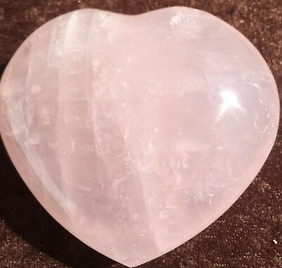 Awesome New 60Mm *rose Quartz* Puff Heart (Have 2) - Reiki Healing - A Grade