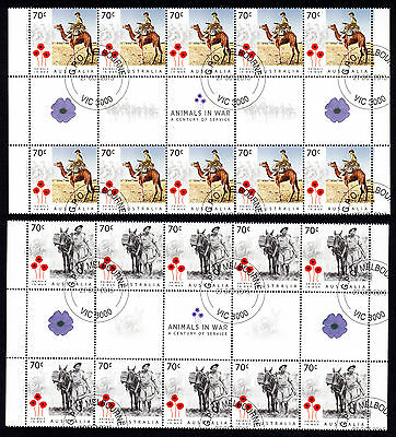 Australia 2015 Animals in War 70 C * 20 MNH Stamps Sheet GPO Melbourne VIC 3000