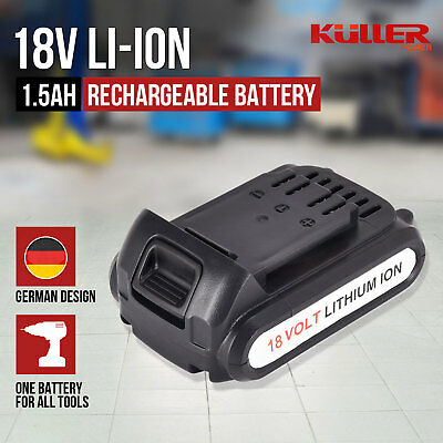 1.5Ah 18V Lithium Rechargeable Battery for Kuller Cordless Drill Power Tools