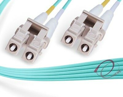 6.5ft 10x LC to LC Fiber Patch Cable 10Gb Multimode OM3 Duplex 50//125 2-Meter