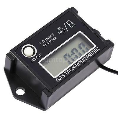 Waterproof Digital LCD Tach Hour Meter RPM Gauge for 2/4 Stroke Gas Engine A7B5