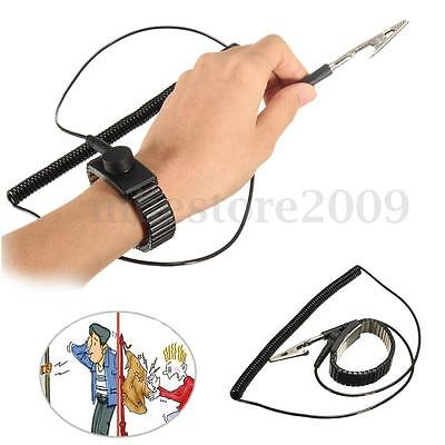 Anti Static ESD Adjustable Wrist Strap Discharge Band Grounding Metal Bracelet