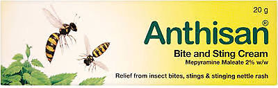 Anthisan Cream Insect Bite & Sting Relief 20g For Adults & Children
