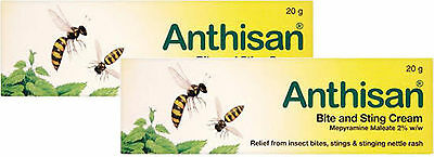 Anthisan Cream Insect Bite & Sting Relief 20g TWIN PACK - For Adults & Children