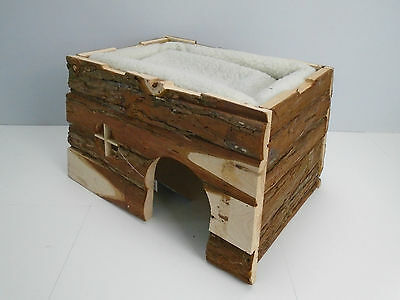 Trixie Natural Living Tilde Log House with Cuddly Bed for Rabbits. Guinea Pigs